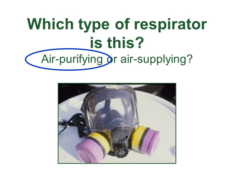Which type of respirator is this? Air-purifying or air-supplying?