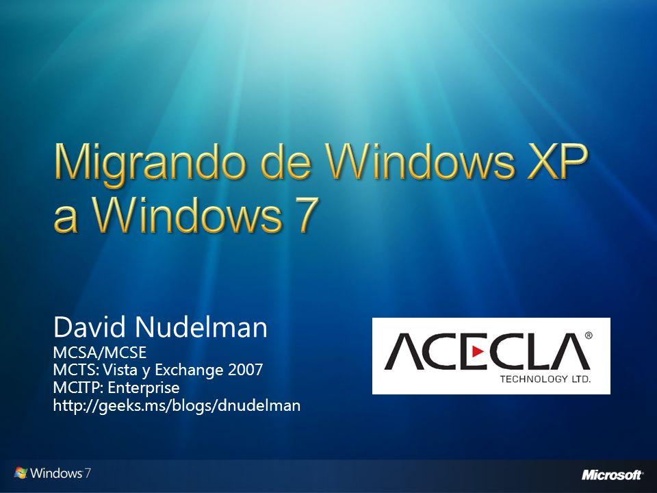 David Nudelman MCSA/MCSE MCTS: Vista y Exchange 2007 MCITP: Enterprise http://geeks.ms/blogs/dnudelman