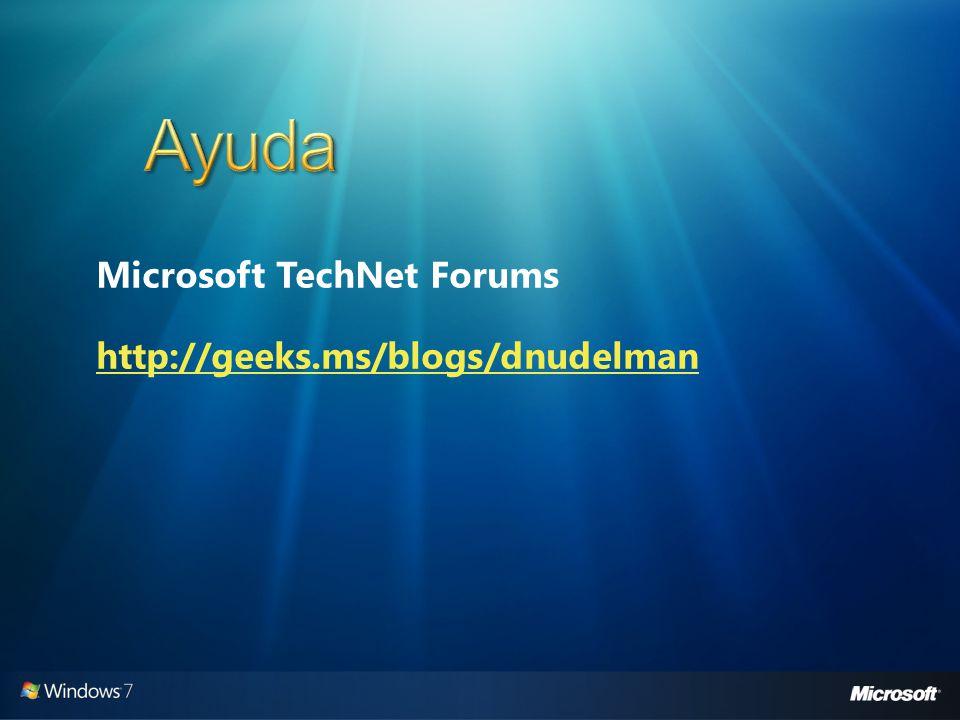 Microsoft TechNet Forums http://geeks.ms/blogs/dnudelman