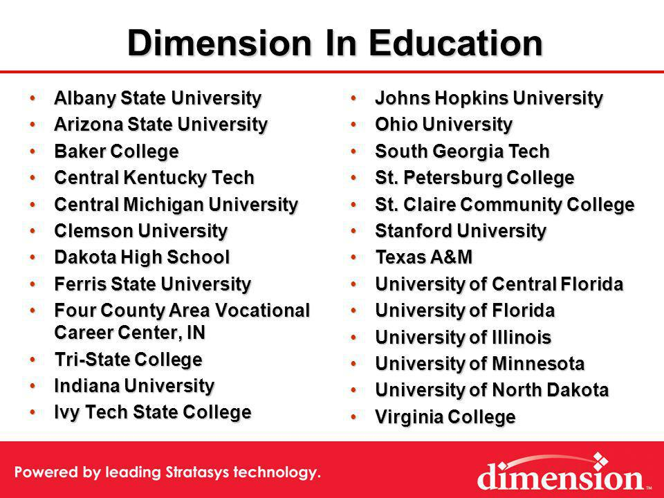 Dimension In Education Albany State UniversityAlbany State University Arizona State UniversityArizona State University Baker CollegeBaker College Cent