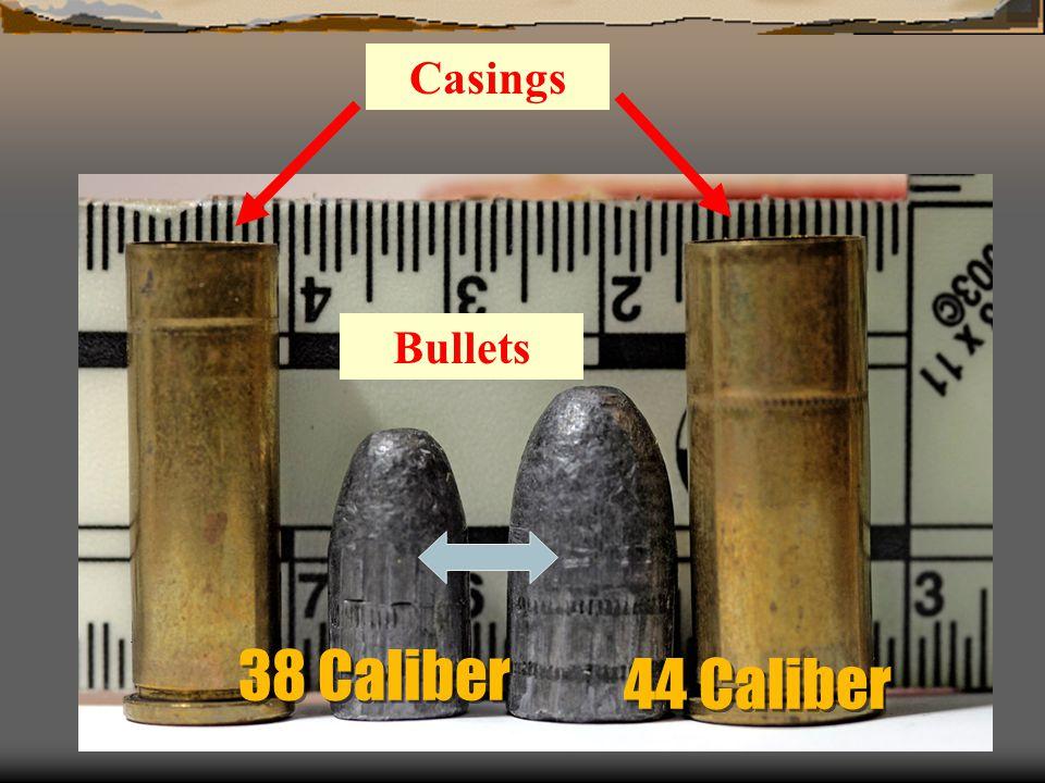 38 Caliber Bullets Casings 44 Caliber
