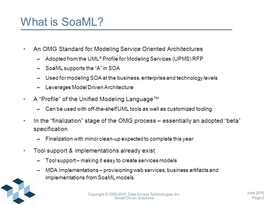 Page 43 Copyright © 2009-2010 Data Access Technologies, Inc.