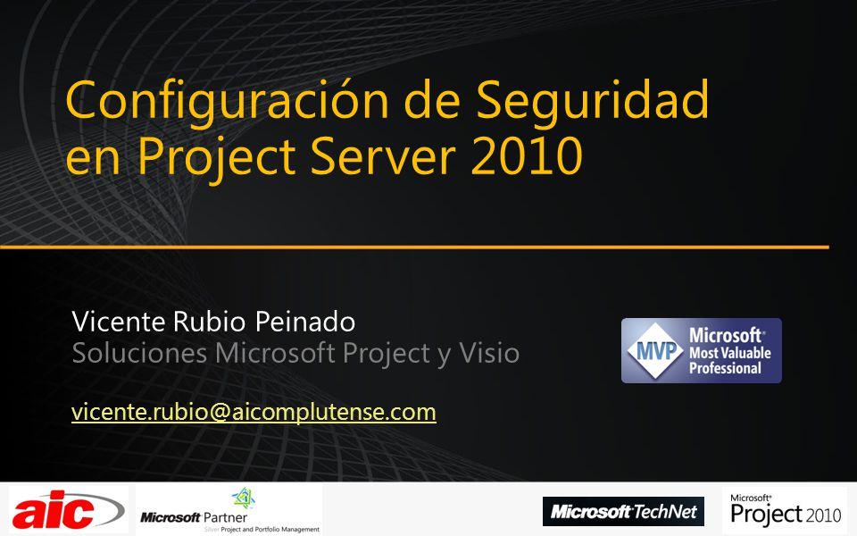 Configuración de Seguridad en Project Server 2010