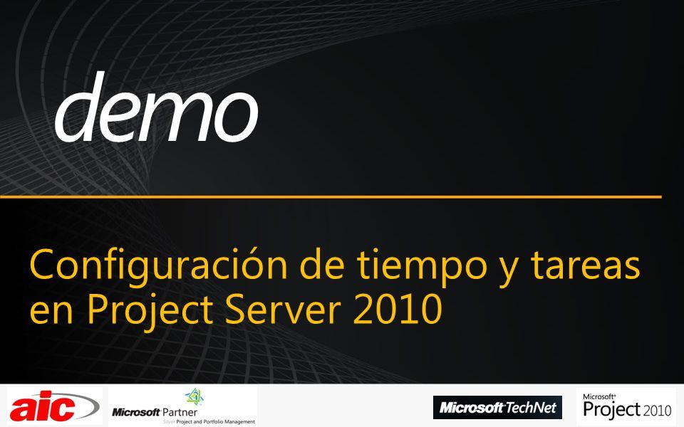 Configuración de tiempo y tareas en Project Server 2010