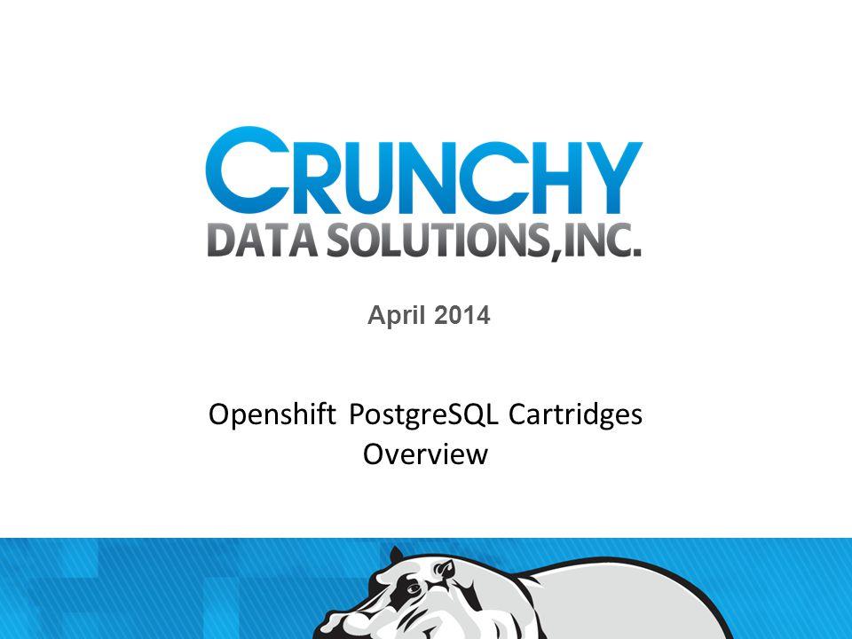 Agenda 2 Crunchy Confidential Openshift concepts – short description Crunchy PG Cartridge Crunchy HA PG Cartridge Crunchy Sample Application Cartridge Features Backlog Q/A