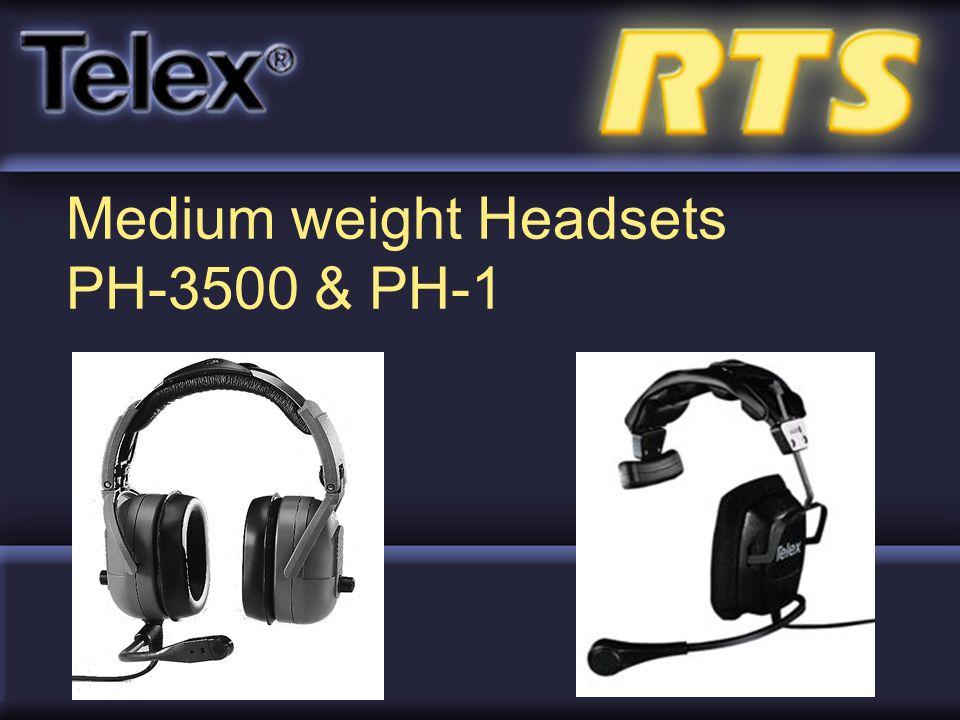 Medium weight Headsets PH-3500 & PH-1