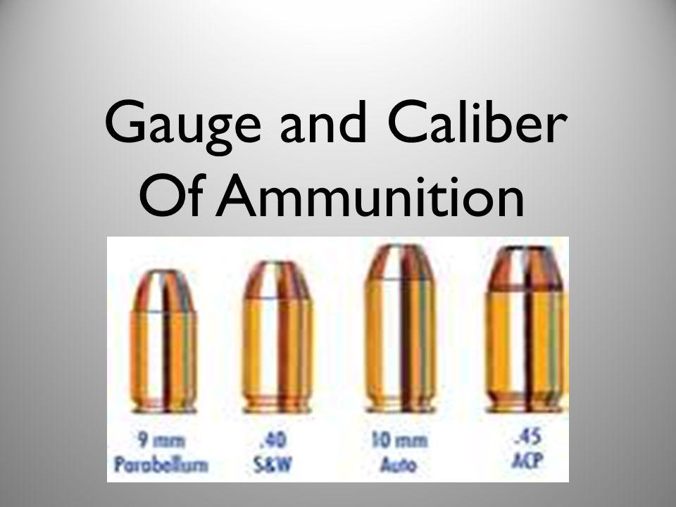 Gauge and Caliber Of Ammunition