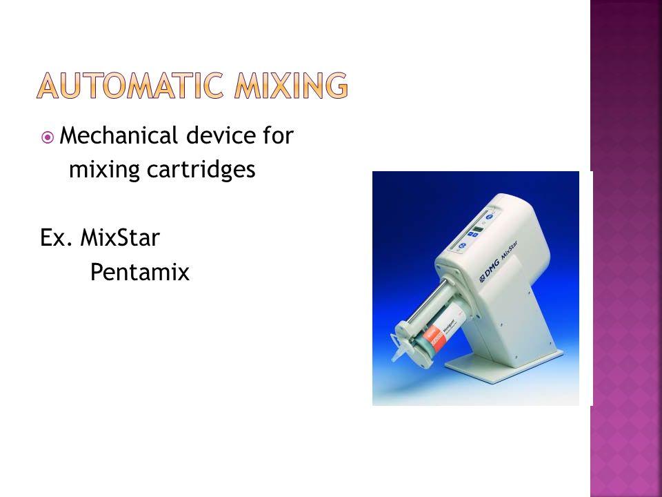 Base = jar or bucket Catalyst = jar or liquid Large mix pad (6X6) Narrow, stiff spatula Non-latex gloves Impression tray Prepared with adhesive
