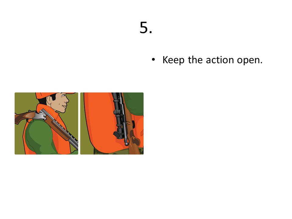 5. Keep the action open.