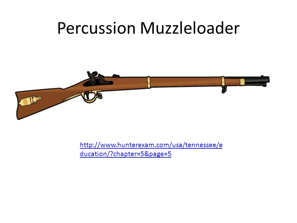 Percussion Muzzleloader http://www.hunterexam.com/usa/tennessee/e ducation/?chapter=5&page=5