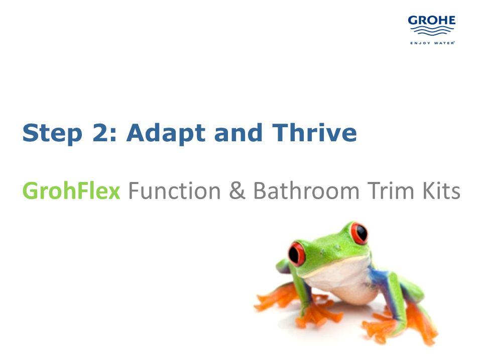 10 Step 2: Adapt and Thrive GrohFlex Function & Bathroom Trim Kits