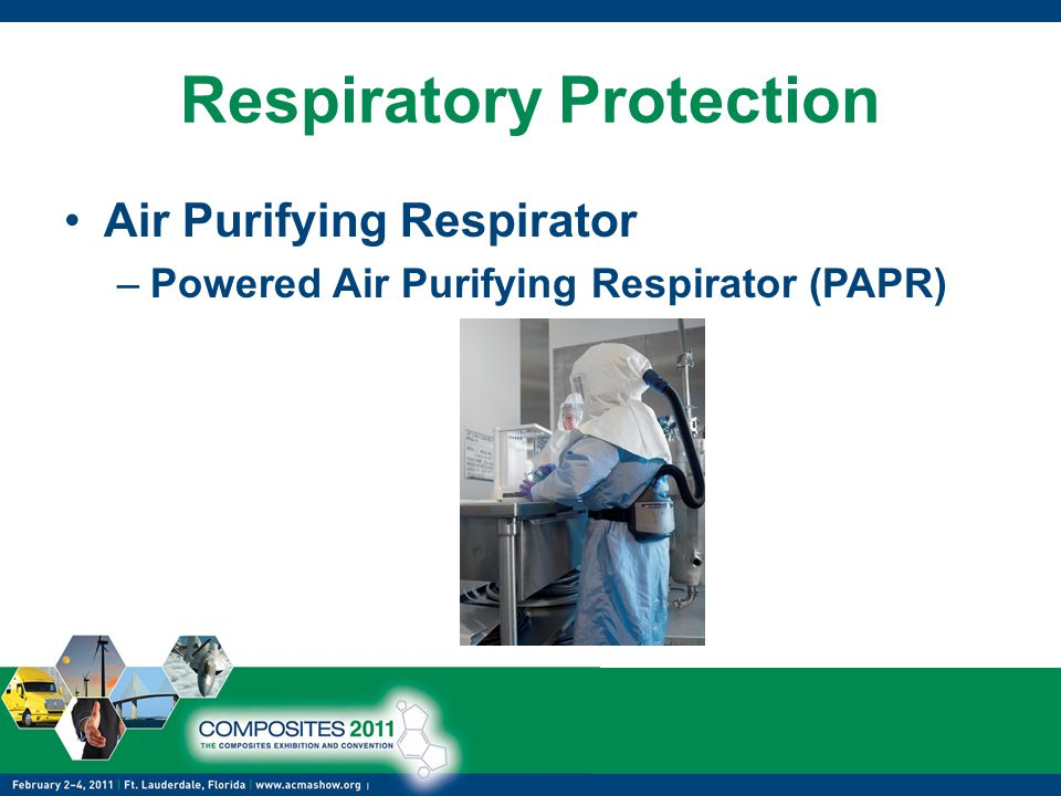 Respiratory Protection Air Purifying Respirator –Powered Air Purifying Respirator (PAPR)