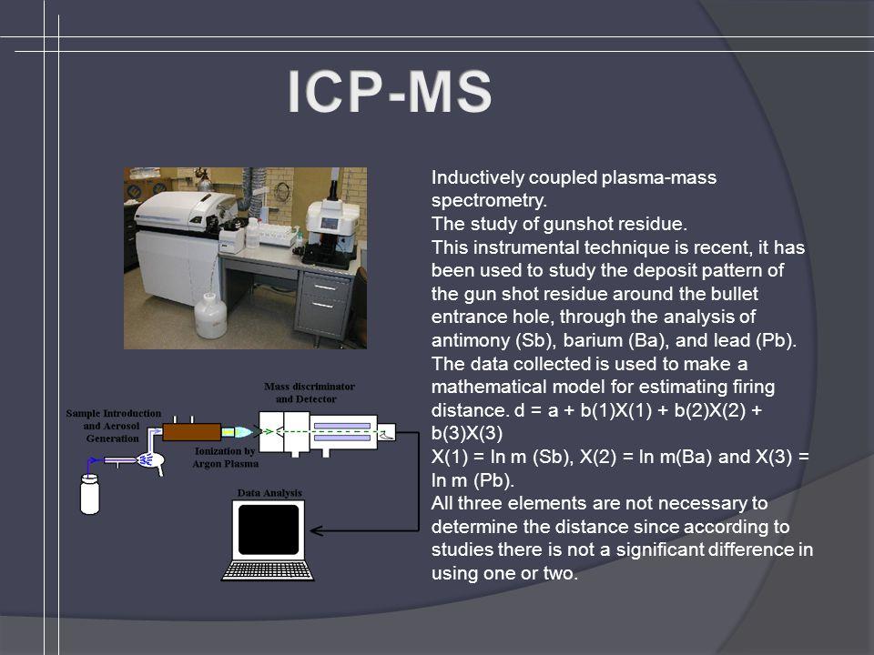 Inductively coupled plasma-mass spectrometry. The study of gunshot residue.