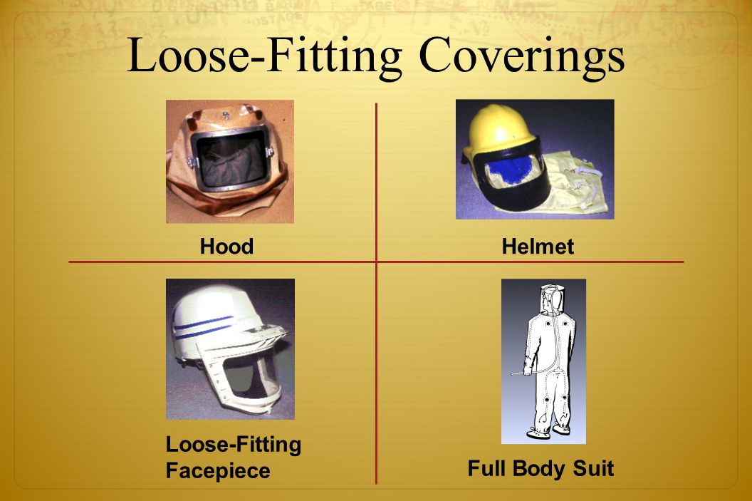 Loose-Fitting Coverings HoodHelmet Loose-Fitting Facepiece Full Body Suit