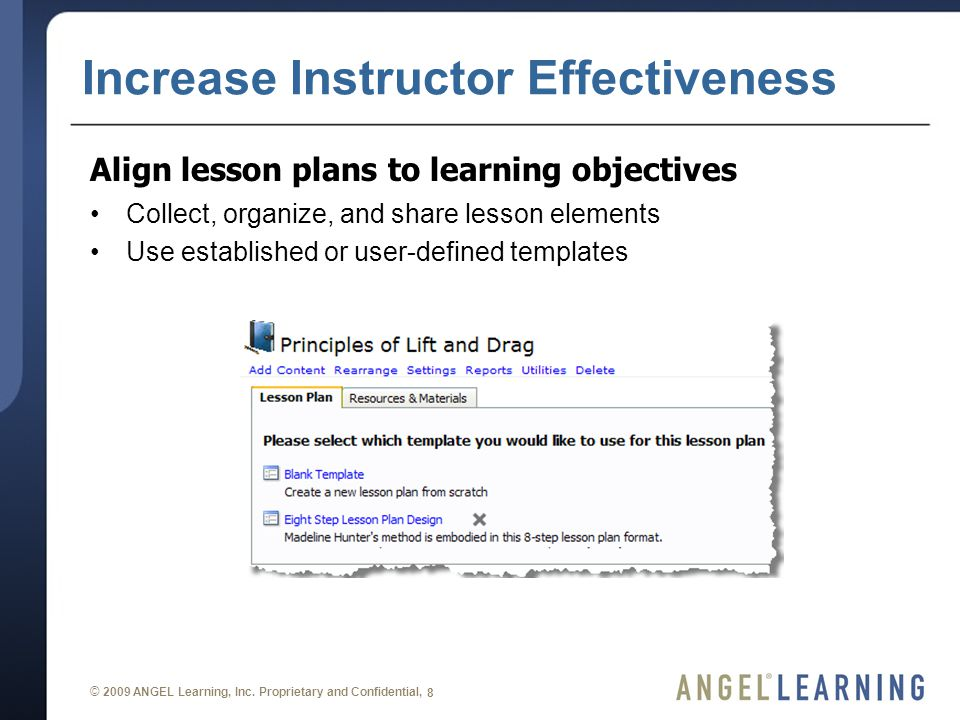 © 2009 ANGEL Learning, Inc.
