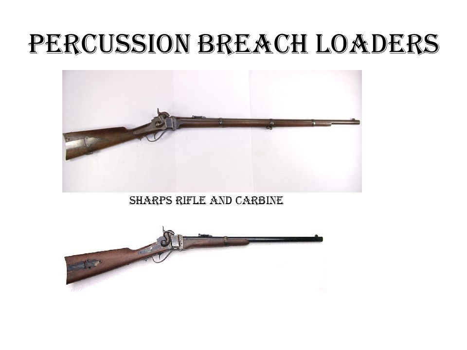 Percussion Breach loaders Sharps Rifle and Carbine