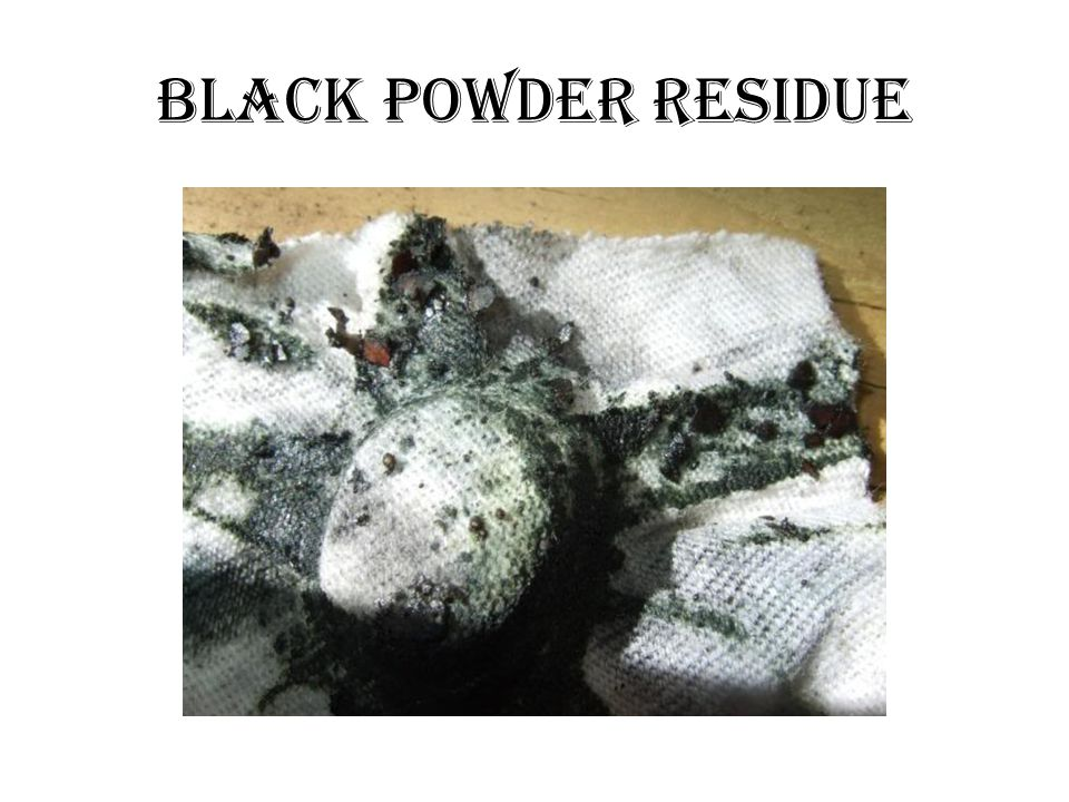 Black Powder Residue