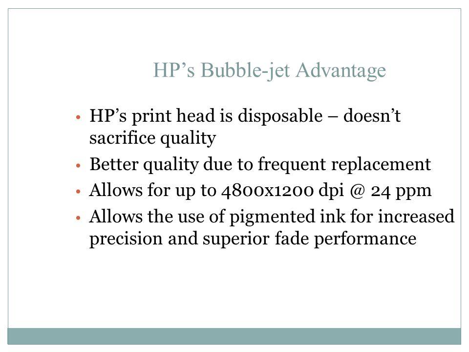TIJ vs Piezoelectric dots Piezoelectric vs TIJ vs Laser print on plain paper Performance Analysis Piezoelectric printers are susceptible to nozzle-clogging TIJ use pigmented ink and pressure nozzle ejection
