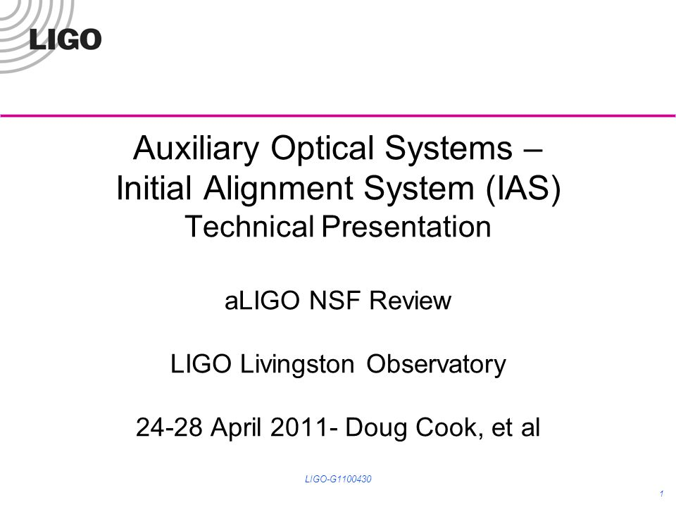 Alignment of ISI optic tables LIGO-G1100430 12 The Total Station/Autocollimator is depicted in a position/height to align the test mass optic.