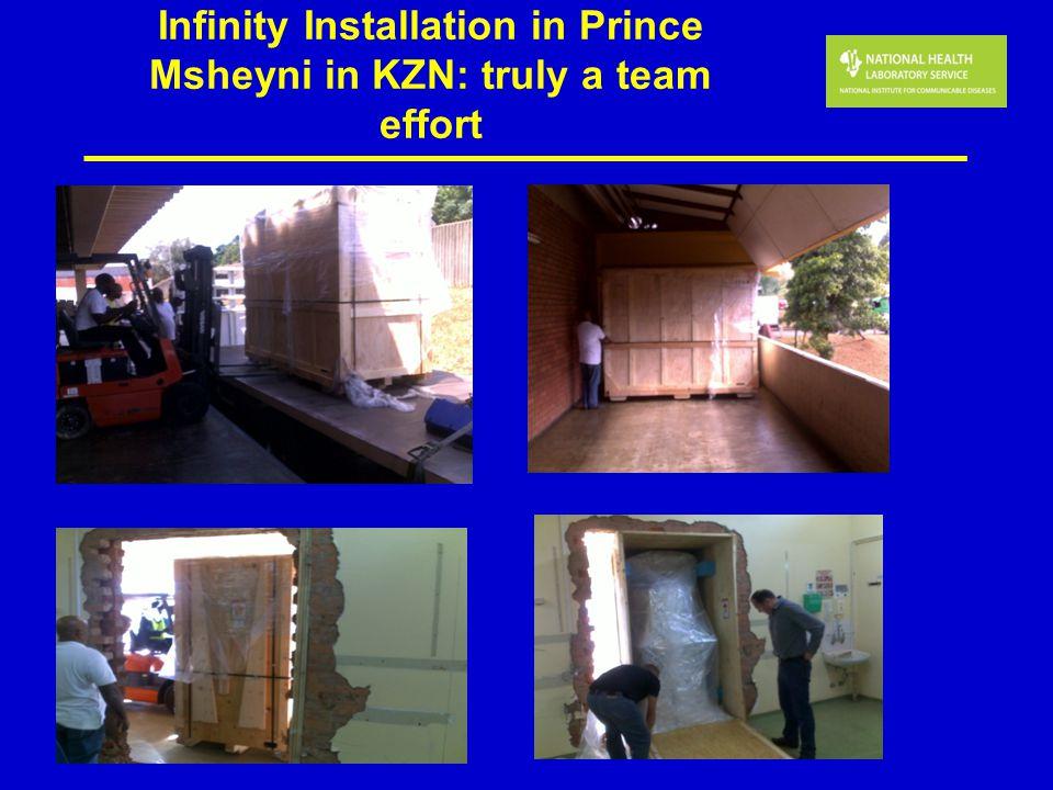 Infinity Installation in Prince Msheyni in KZN: truly a team effort