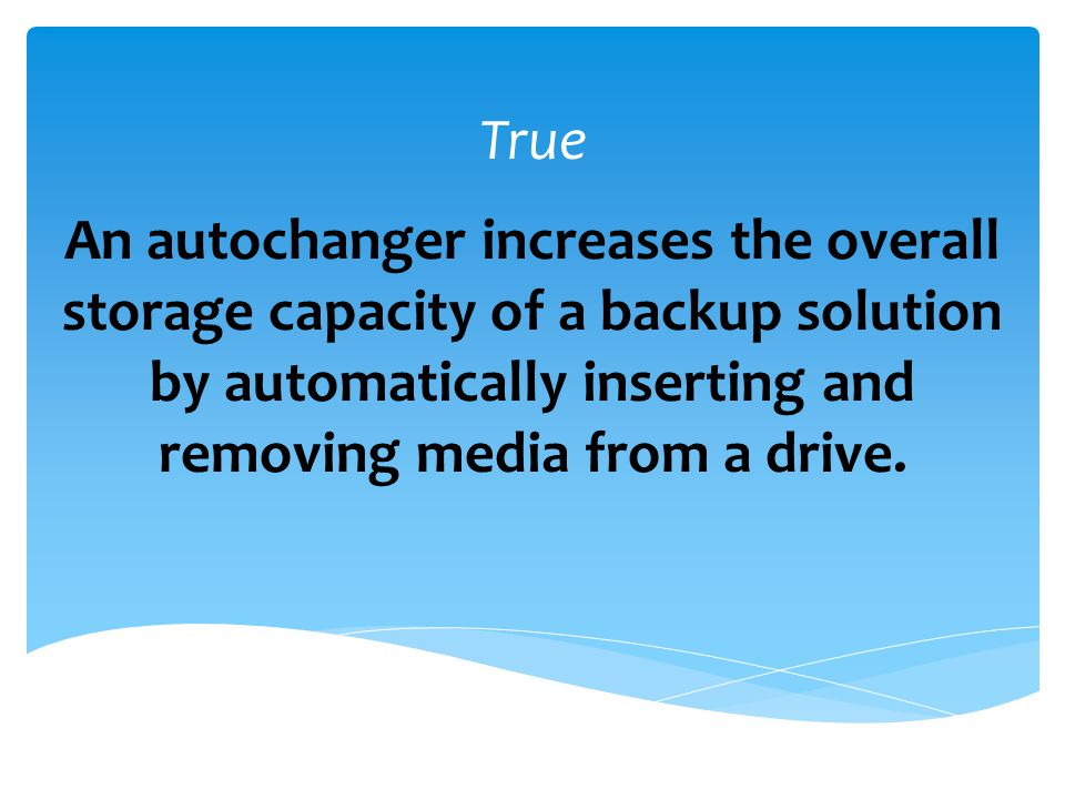 Which of the following is not a recognized type of backup.