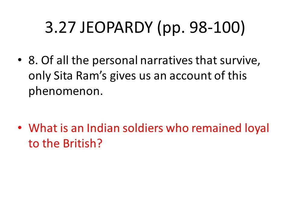 3.27 JEOPARDY (pp.98-100) 8.