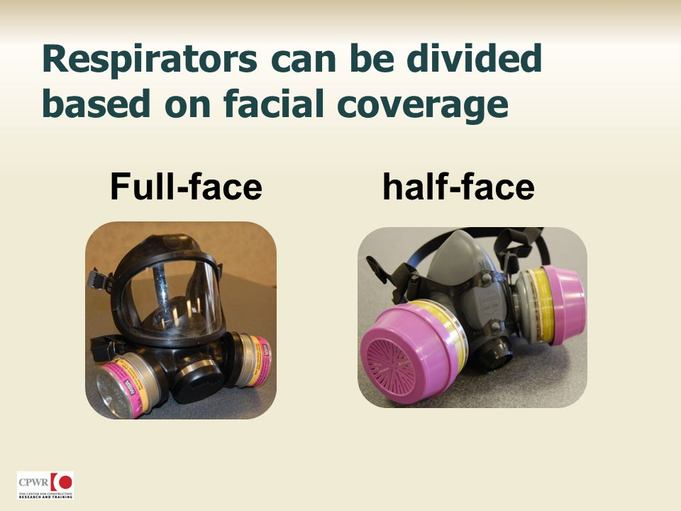 Full-facehalf-face Respirators can be divided based on facial coverage