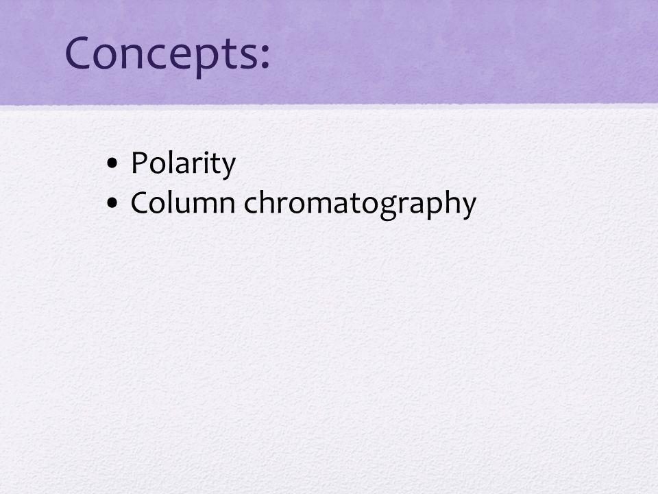 Concepts: Polarity Column chromatography