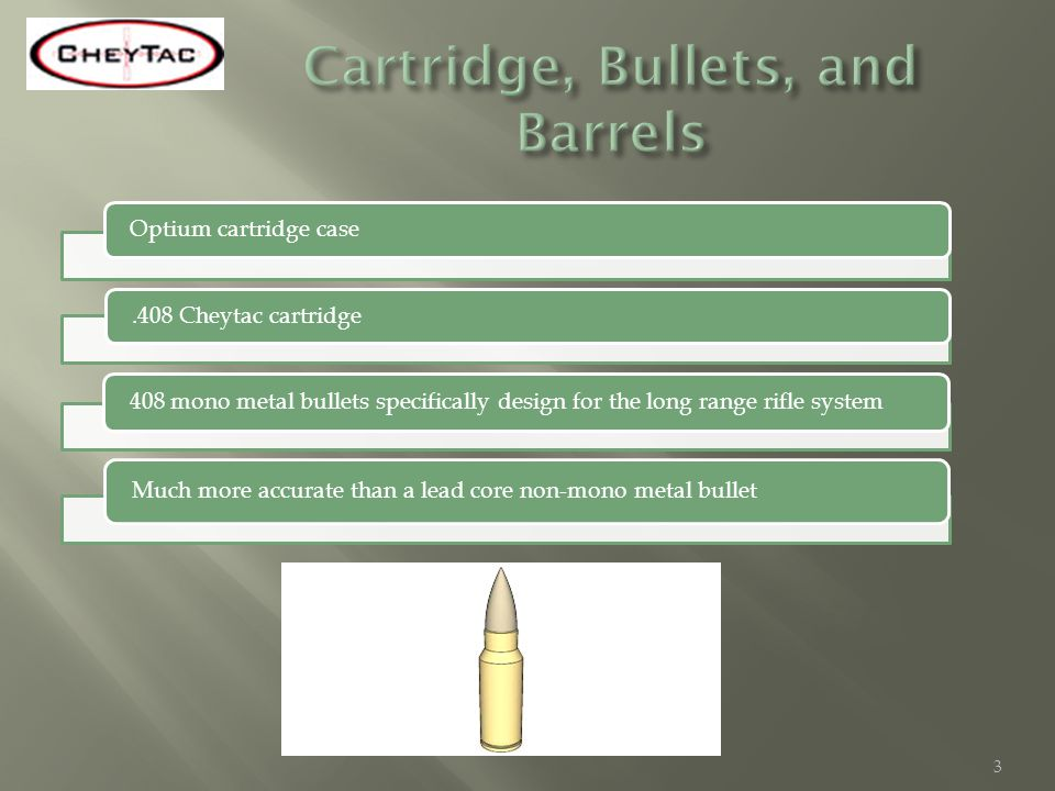 Optium cartridge case.408 Cheytac cartridge 408 mono metal bullets specifically design for the long range rifle system Much more accurate than a lead