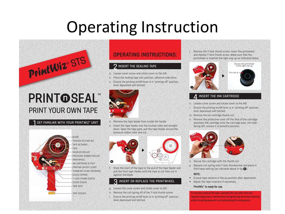 Operating Instruction