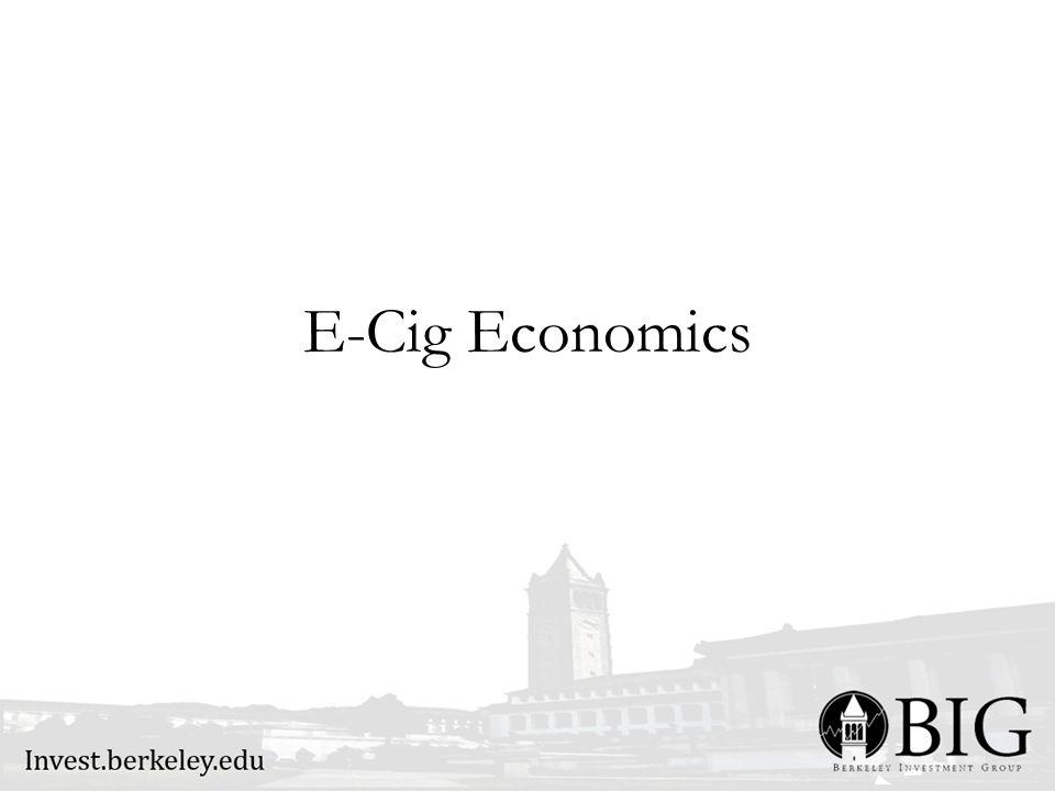 E-Cig Economics