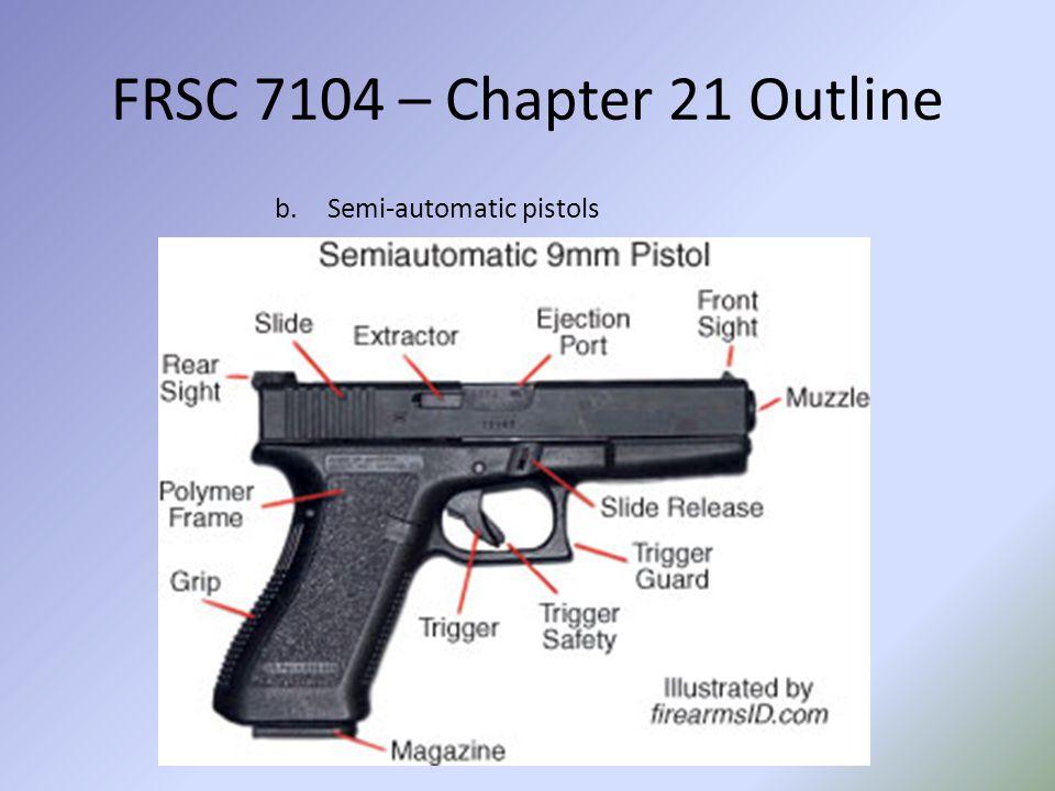 FRSC 7104 – Chapter 21 Outline 2.Rifles (Shoulder arms)
