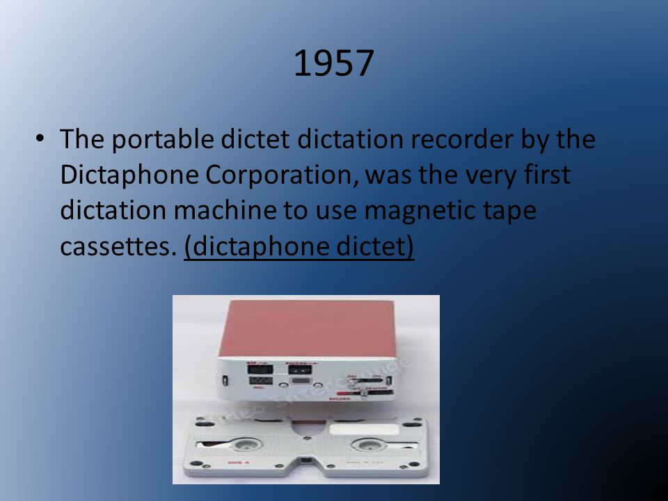 1958 In 1958 RCA developed an audio cartridge system known simply as the sound tape cartridge.