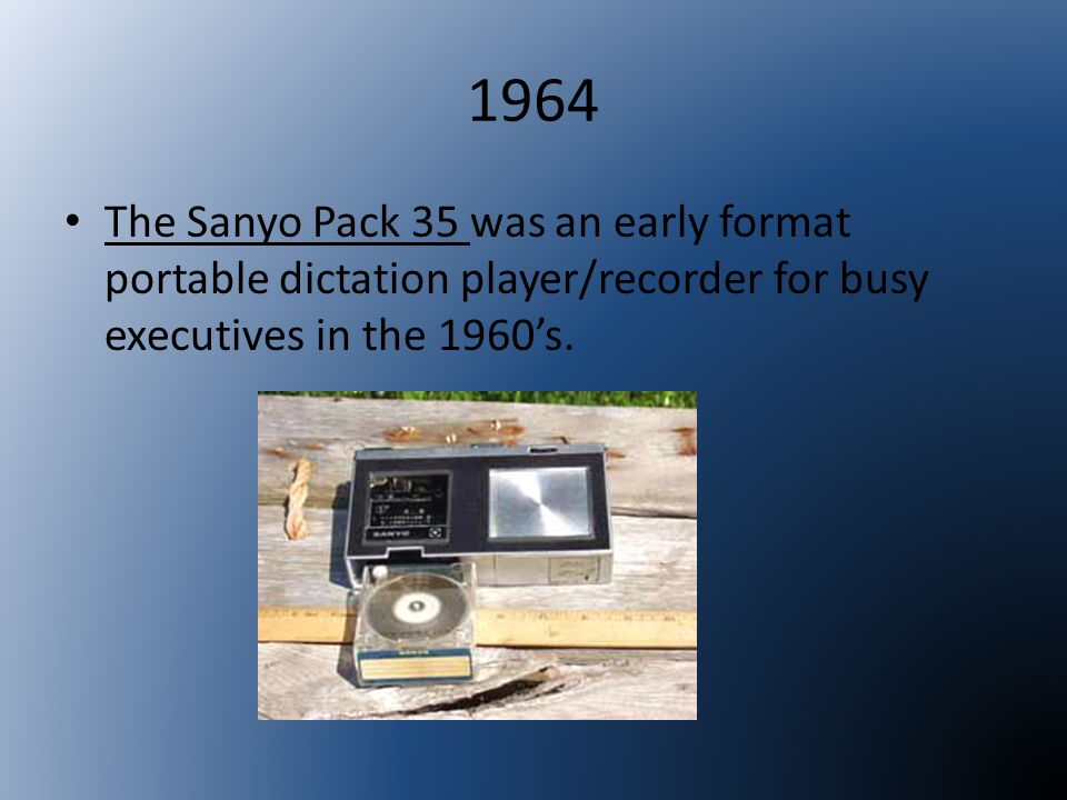 1977 The Elcaset format was introduced by Sony in 1977.