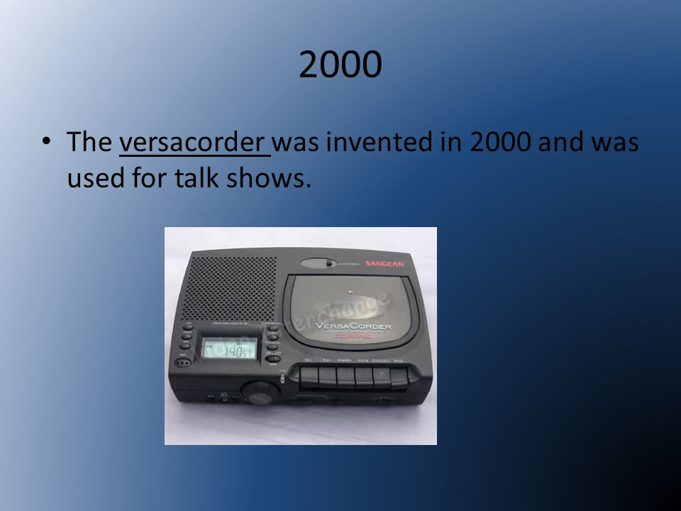 2001 The advanced audio coding is a newer codec algorithm made in 2001.