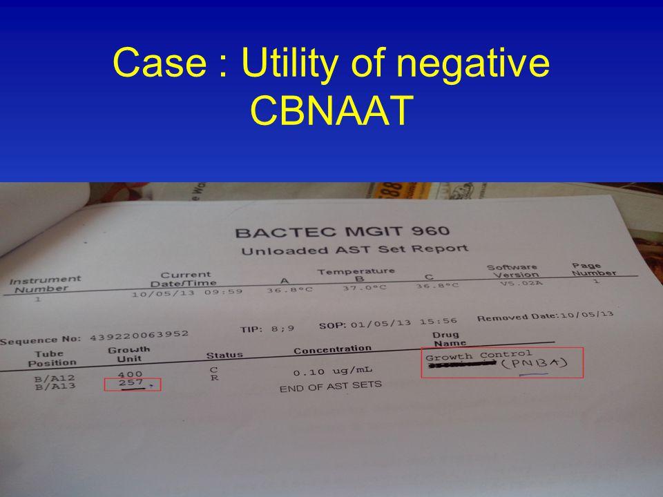 Case : Utility of negative CBNAAT