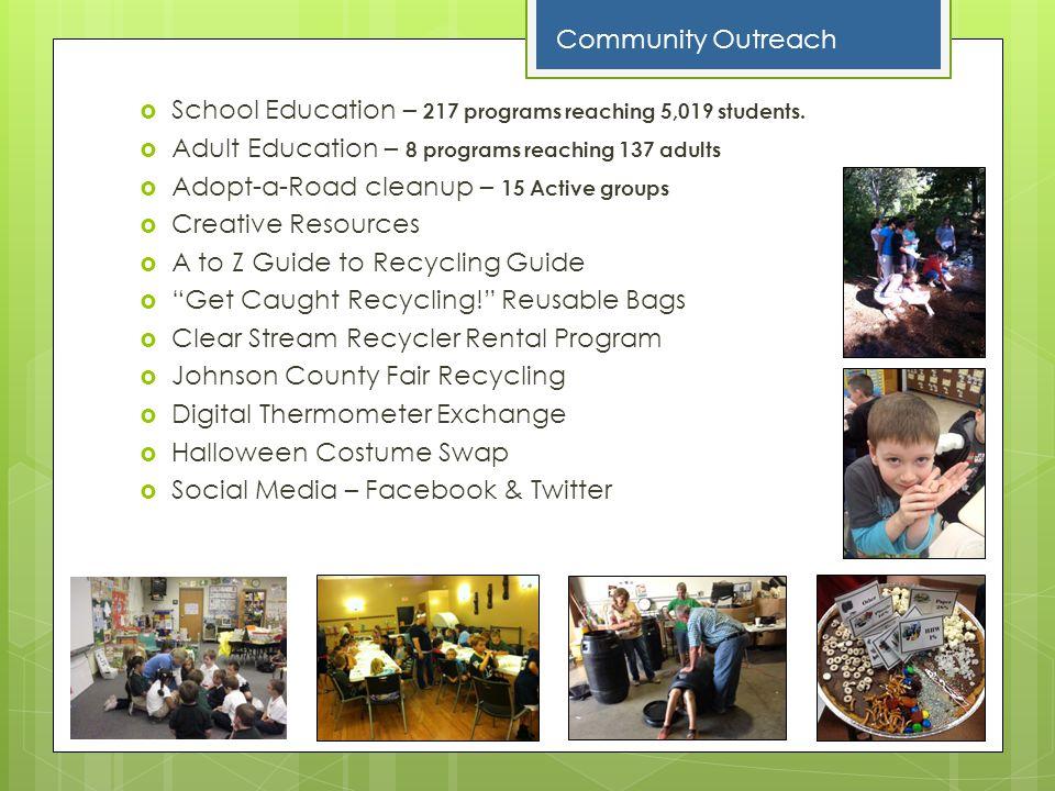 School Education – 217 programs reaching 5,019 students.