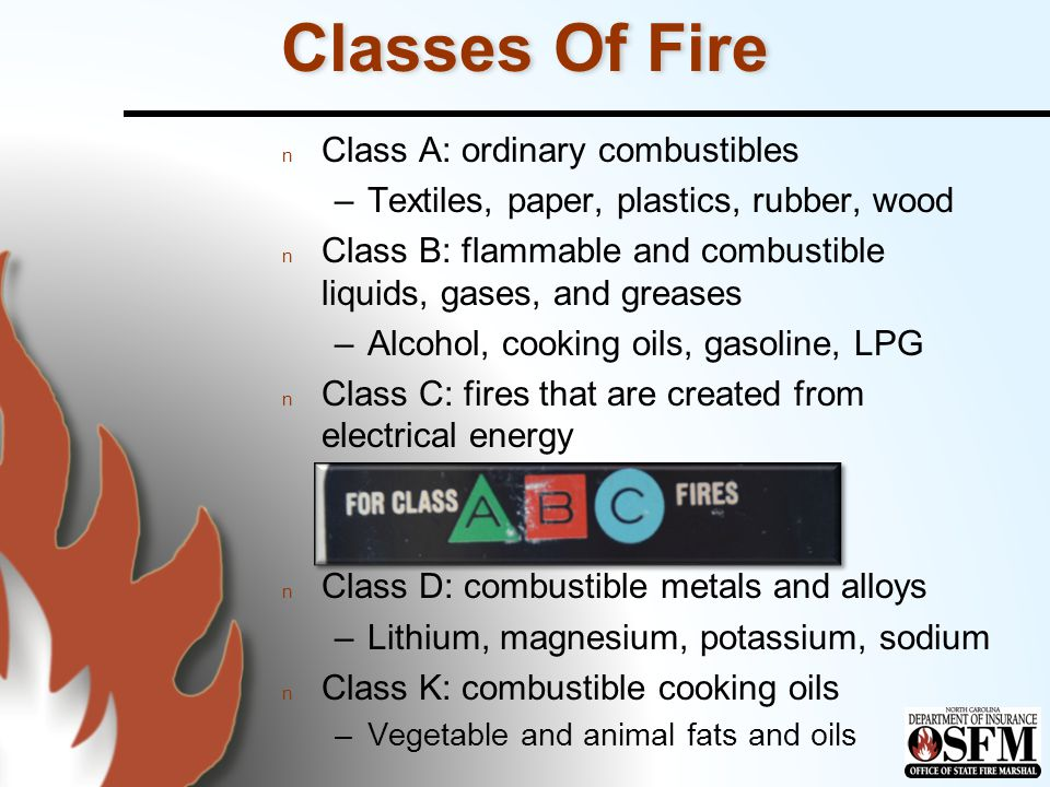 Extinguisher Ratings n Dry powders –Class D Class D extinguishers No single agent will extinguish fires in all combustible metals Class D extinguishers No single agent will extinguish fires in all combustible metals