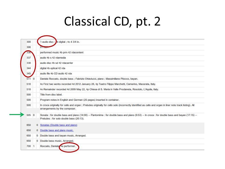 Classical CD, pt. 2