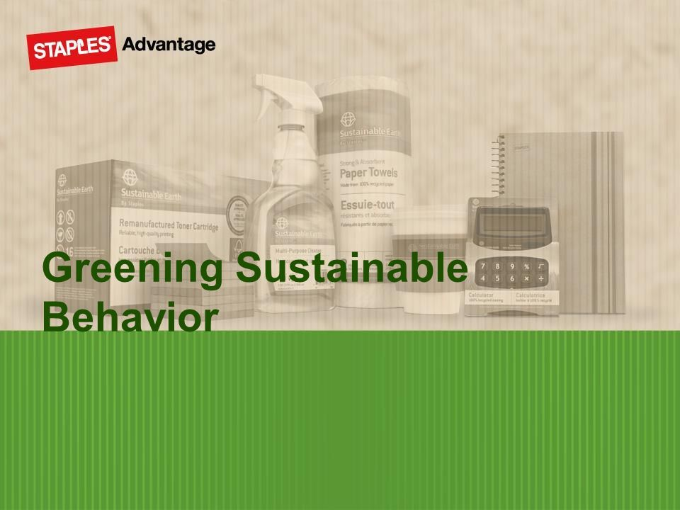 Greening Sustainable Behavior