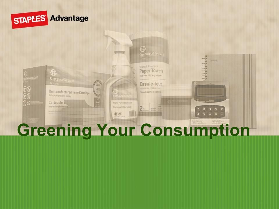 Greening Your Consumption