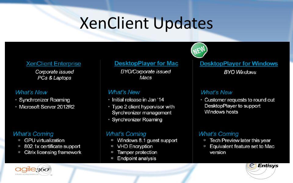 XenClient Updates