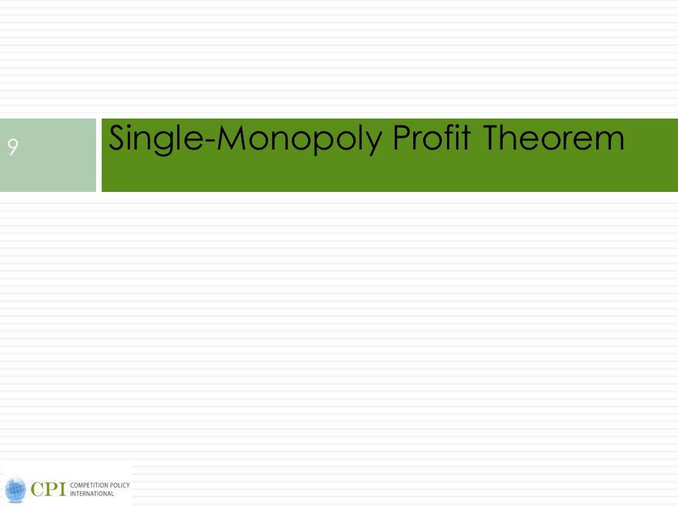 Single-Monopoly Profit Theorem 9