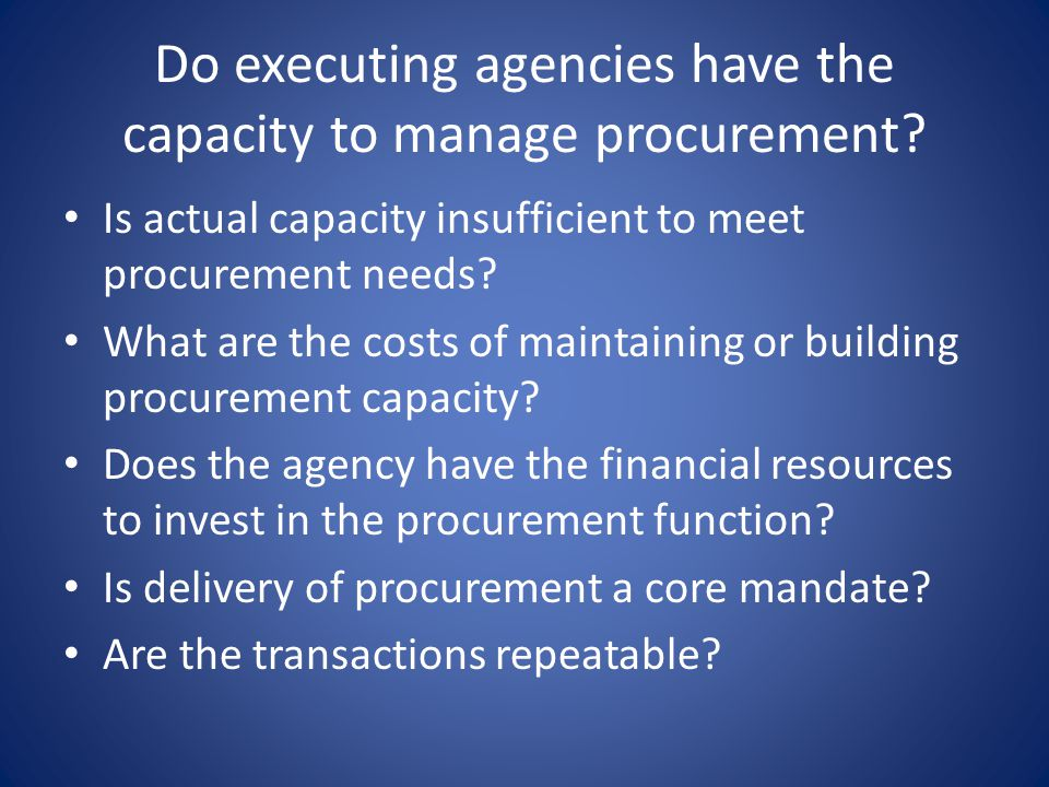 Can the private sector undertake procurement.Does the law allow it.