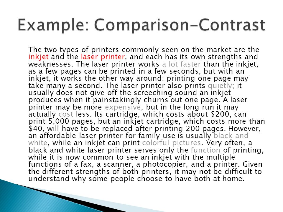 The two types of printers commonly seen on the market are the inkjet and the laser printer, and each has its own strengths and weaknesses.