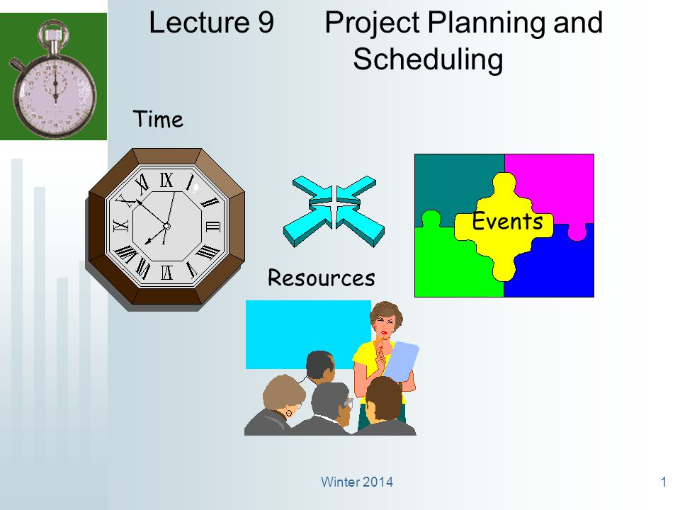 Winter 20142 What is the difference between Project Planning and the Project Schedule.