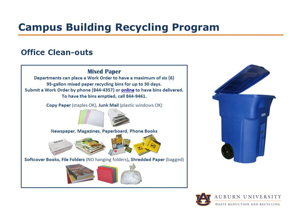 Campus Building Recycling Program Office Clean-outs