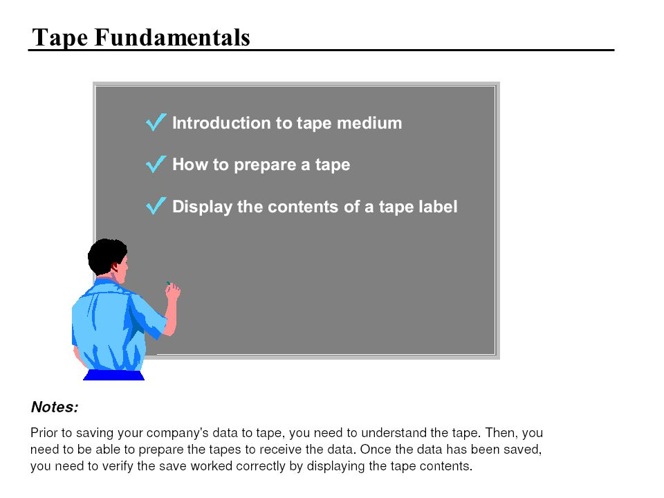 Tape Fundamentals