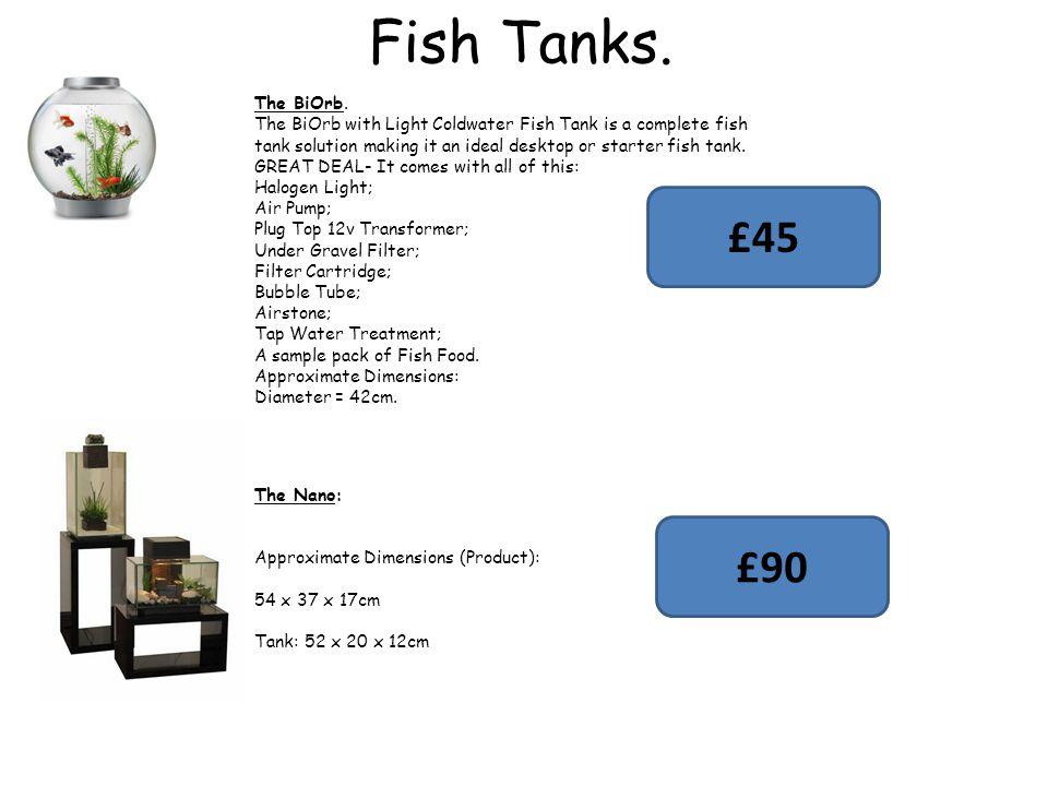 Fish Tanks. The BiOrb.