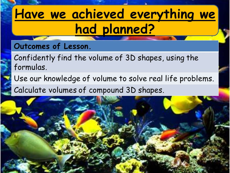 Have we achieved everything we had planned. Outcomes of Lesson.